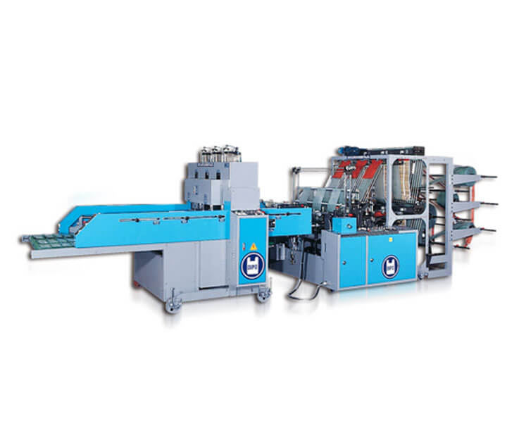 Double Layer High Speed Flat Bag/T-Shirt Bag Making Machine