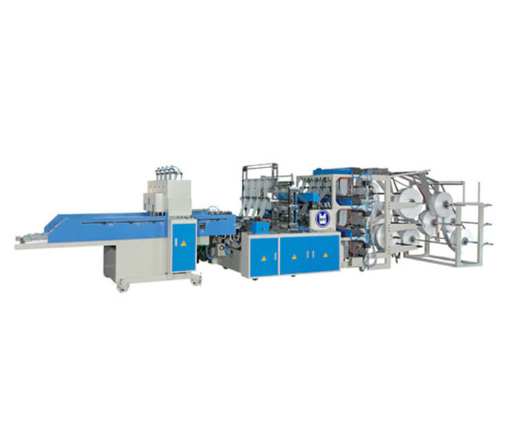 Automatic 3 Layer High Speed T-Shirt Bag Making Machine
