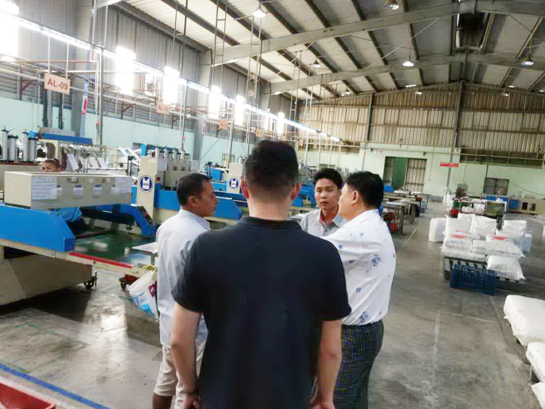 Dipo in Myanmar visiting customers.We look forward to helping them plan their new factory!